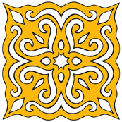 Barock style Cut Art to yellow pattern.
