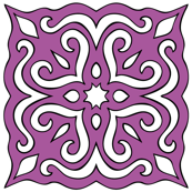 Barock style Cut Art to purple pattern.