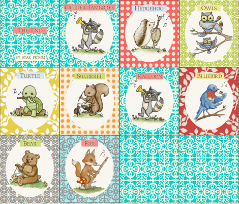 Critter Jamboree Book fabric by mytinystar on Spoonflower - custom fabric