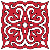 Barock style Cut Art to red pattern.