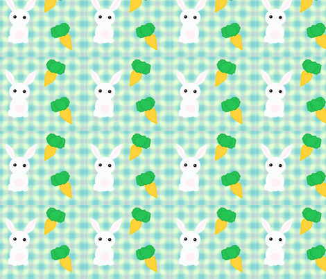 Little Plaid Bunny fabric by mica87 on Spoonflower - custom fabric