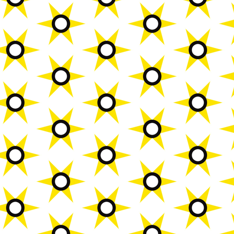 retro Yellow Star fabric by stoflab on Spoonflower - custom fabric