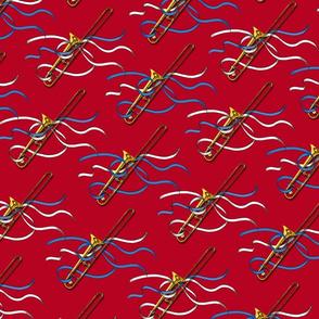 Trombones & Ribbons 1 yd