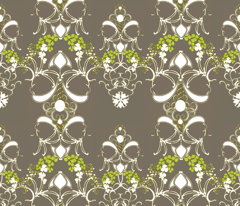 Damask Antebellum fabric by joanmclemore on Spoonflower - custom fabric