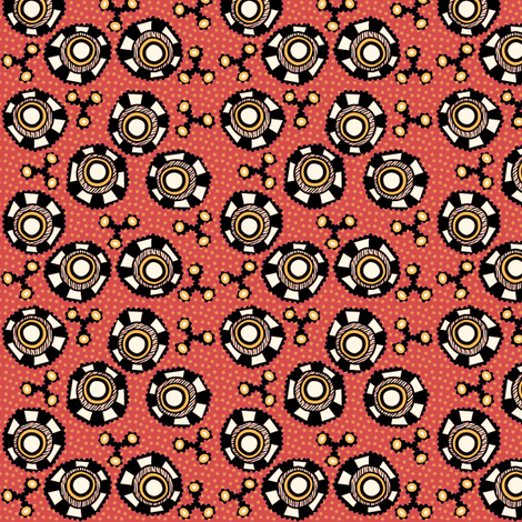 whacky eyes fire fabric by glimmericks on Spoonflower - custom fabric