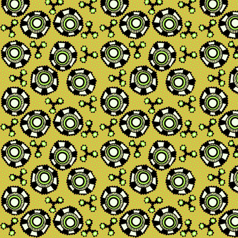 whacky eyes green fabric by glimmericks on Spoonflower - custom fabric