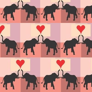 Elephant duo background squares