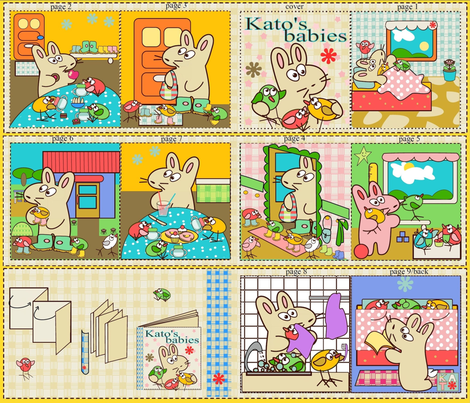 kato's babies fabric by kato_kato on Spoonflower - custom fabric