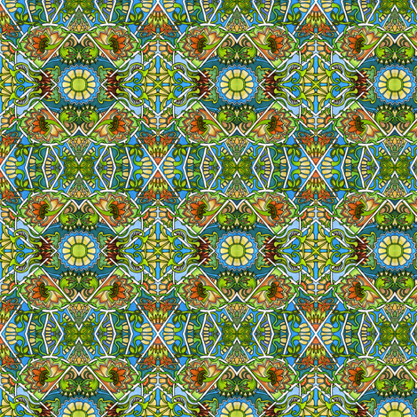 Daisy Rays Rising fabric by edsel2084 on Spoonflower - custom fabric