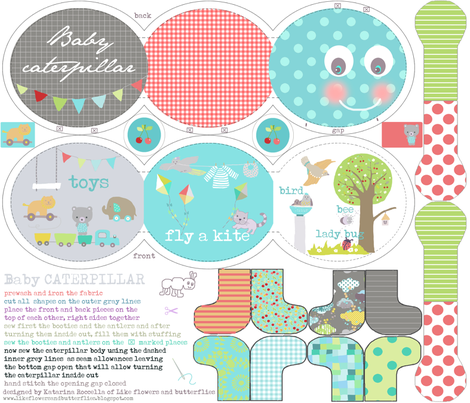 caterpillar baby book fabric by katarina on Spoonflower - custom fabric
