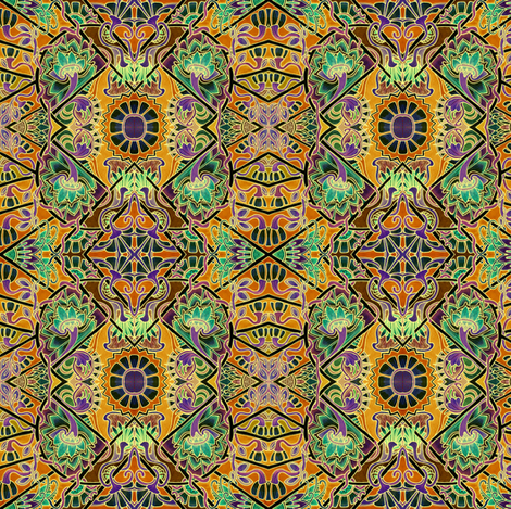Black Hole Sun (Egyptian Revival) fabric by edsel2084 on Spoonflower - custom fabric