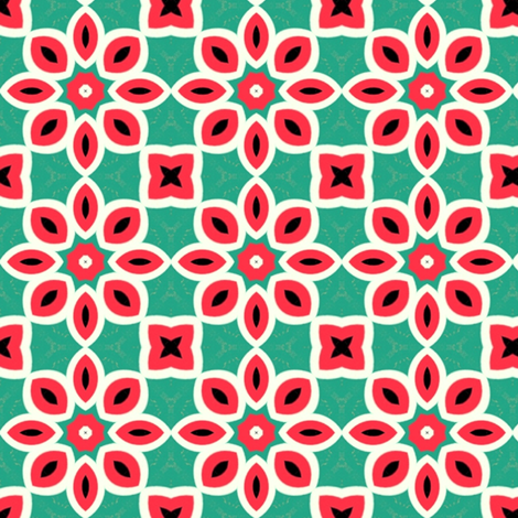 Retro Flowers fabric by stoflab on Spoonflower - custom fabric