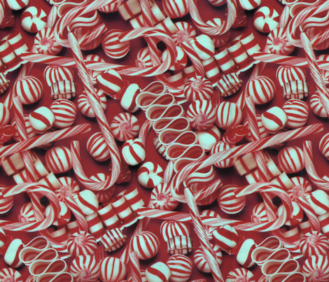 Peppermints (smaller print) fabric by bclassy on Spoonflower - custom fabric