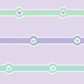 Love Chain: Faithful (lavender, purple, mint green, white)