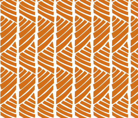 Bamboo Stripe_Orange fabric by ithinksew on Spoonflower - custom fabric