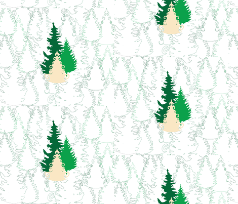 Evergreen Forest fabric by elvishthistle on Spoonflower - custom fabric