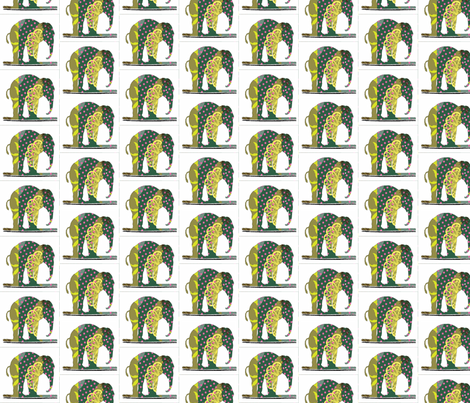 spotted quilted elefant small fabric by vinkeli on Spoonflower - custom fabric