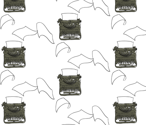 typewriter fabric by avelis on Spoonflower - custom fabric