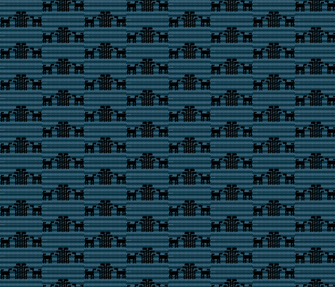 Black and Blue Skok Dog fabric by raven_miller on Spoonflower - custom fabric