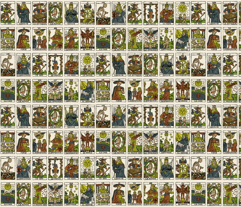 Tarot fabric by pkfridley on Spoonflower - custom fabric
