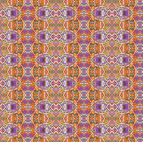 East Versus West in Orange fabric by edsel2084 on Spoonflower - custom fabric