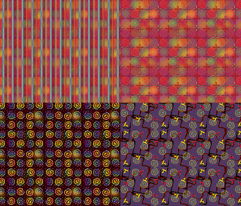 Fiestival 4x1 fabric by glimmericks on Spoonflower - custom fabric