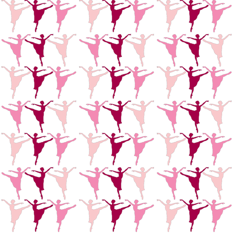 ballerina trio fabric by amy_frances_designs on Spoonflower - custom fabric