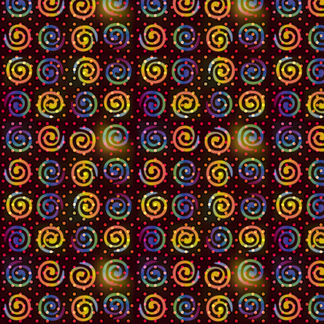 fiestival_swirly_dots fabric by glimmericks on Spoonflower - custom fabric