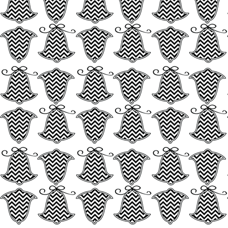 chevron bells fabric by lauraelysha on Spoonflower - custom fabric