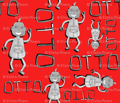 Otto All Over Print Red