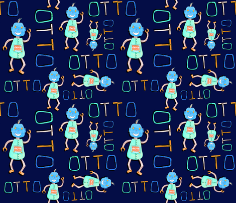 Otto All Over Print Navy fabric by elisha on Spoonflower - custom fabric