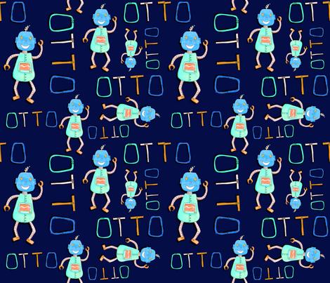 Otto All Over Print Navy fabric by elisha on Spoonflower - custom fabric