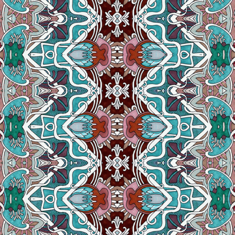 Teal of the Southwest fabric by edsel2084 on Spoonflower - custom fabric