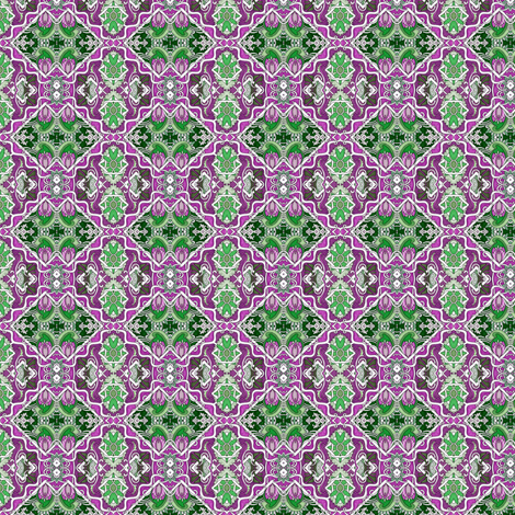 Purple and Green Cha Cha Diamonds fabric by edsel2084 on Spoonflower - custom fabric