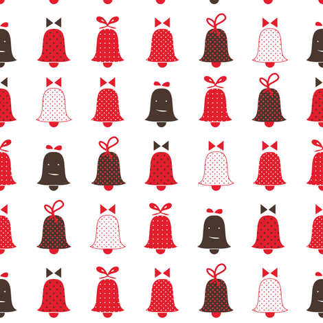 bells fabric by oohoo on Spoonflower - custom fabric