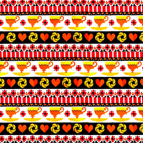 coffeetime_retro_original_color_red__yellow__black fabric by vinkeli on Spoonflower - custom fabric