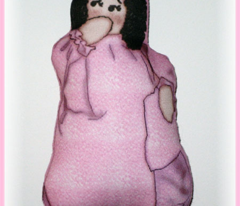It's A Girl! Cut and Sew Doll Ornament