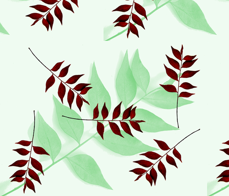 Redleaf shadow fabric by nalo_hopkinson on Spoonflower - custom fabric