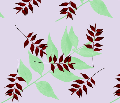 Redleaf shadow var. fabric by nalo_hopkinson on Spoonflower - custom fabric