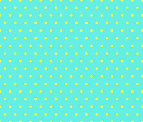 turquoise_and_yellow fabric by mammajamma on Spoonflower - custom fabric