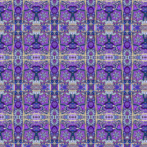 Purple Posies Posing fabric by edsel2084 on Spoonflower - custom fabric