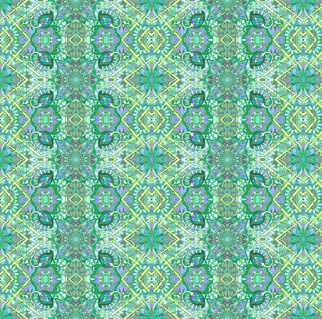 Little Green Paisleys  fabric by edsel2084 on Spoonflower - custom fabric