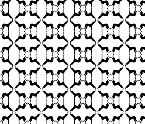 B&W ridgeback repeat fabric by cnarducci on Spoonflower - custom fabric