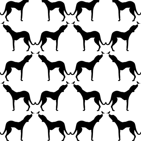 B&W ridgeback repeat fabric by carrie_narducci on Spoonflower - custom fabric