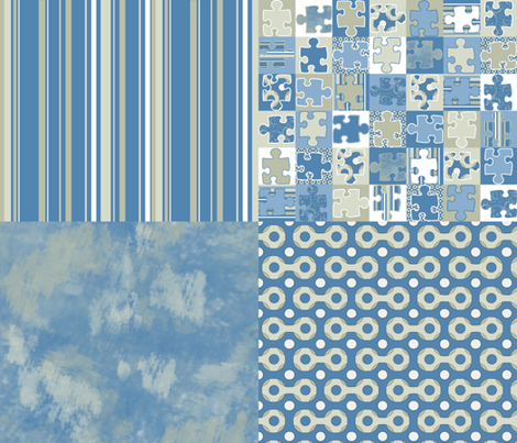 Nautica Sky Blue fabric by poetryqn on Spoonflower - custom fabric