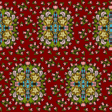Tulip Mahal fabric by eclectic_house on Spoonflower - custom fabric