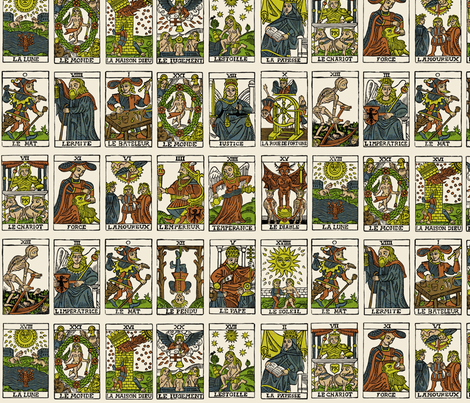 Tarot, large scale fabric by pkfridley on Spoonflower - custom fabric