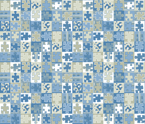 Nautica Puzzle Men fabric by poetryqn on Spoonflower - custom fabric