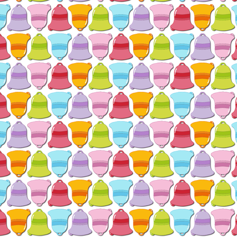 Small colourful bells :) fabric by samvanvoorst on Spoonflower - custom fabric