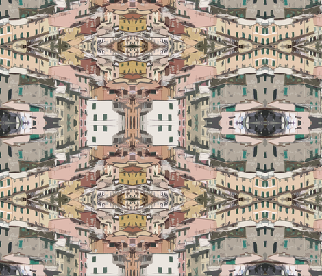 Riomaggiore Italy fabric by mammajamma on Spoonflower - custom fabric